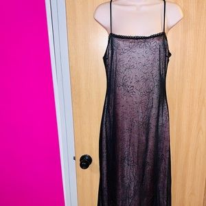 Fabulous Vintage 90's Pink and black chiffon dress